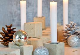 DIY-Tipp: Adventskranz in Würfelform