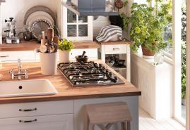 Skandinavische Küche nach Plan