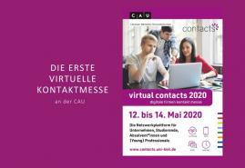 """Erste virtuelle Firmenkontaktmesse """"contacts"""" an der Uni Kiel"""