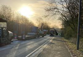 Neue Asphaltschicht auf Kieler Radwegen