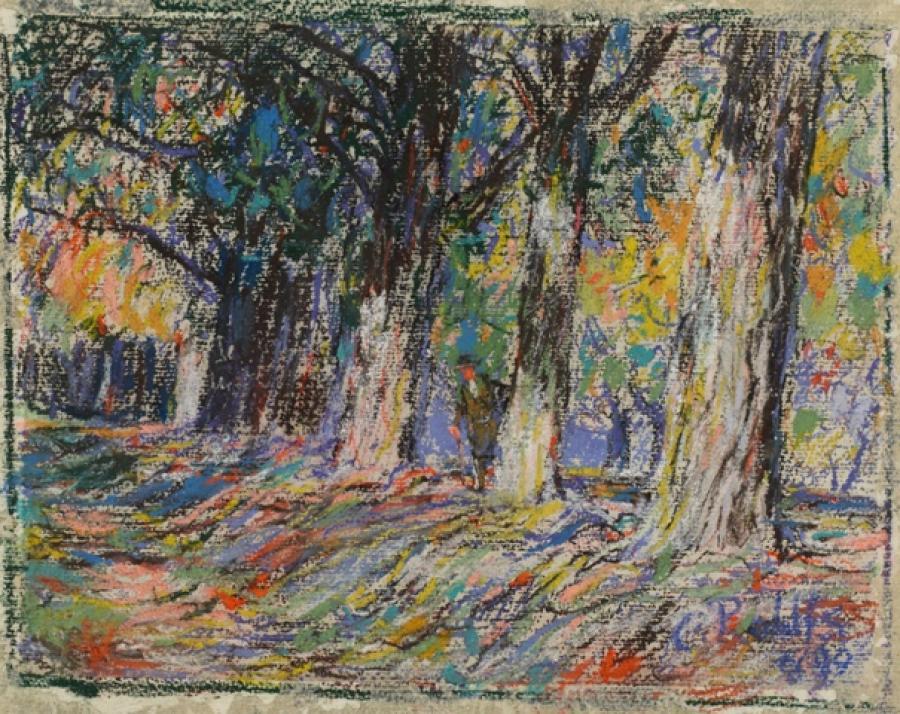 Allee im Belvedere von Weimar (Ausschnitt), 1899