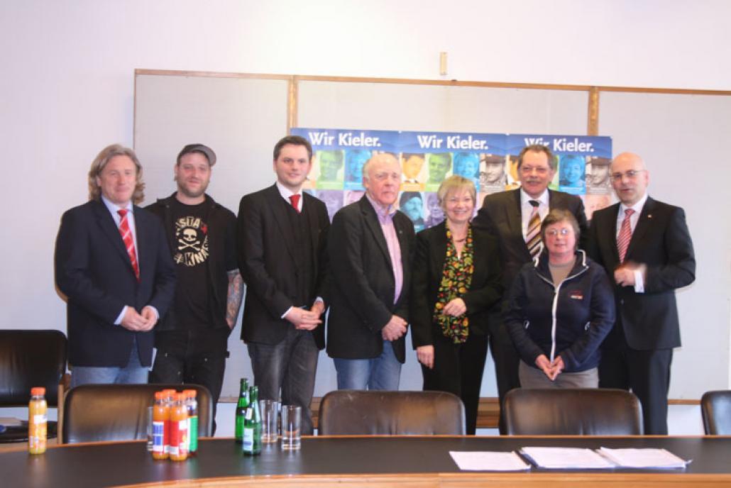 Die Lieblingskieler 2012 mit Oberbürgermister Torsten Albig