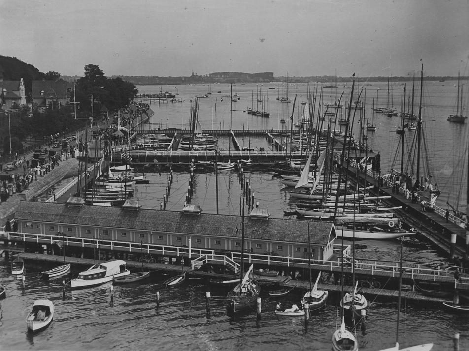 Der Olympiahafen 1936 in Düsternbrook