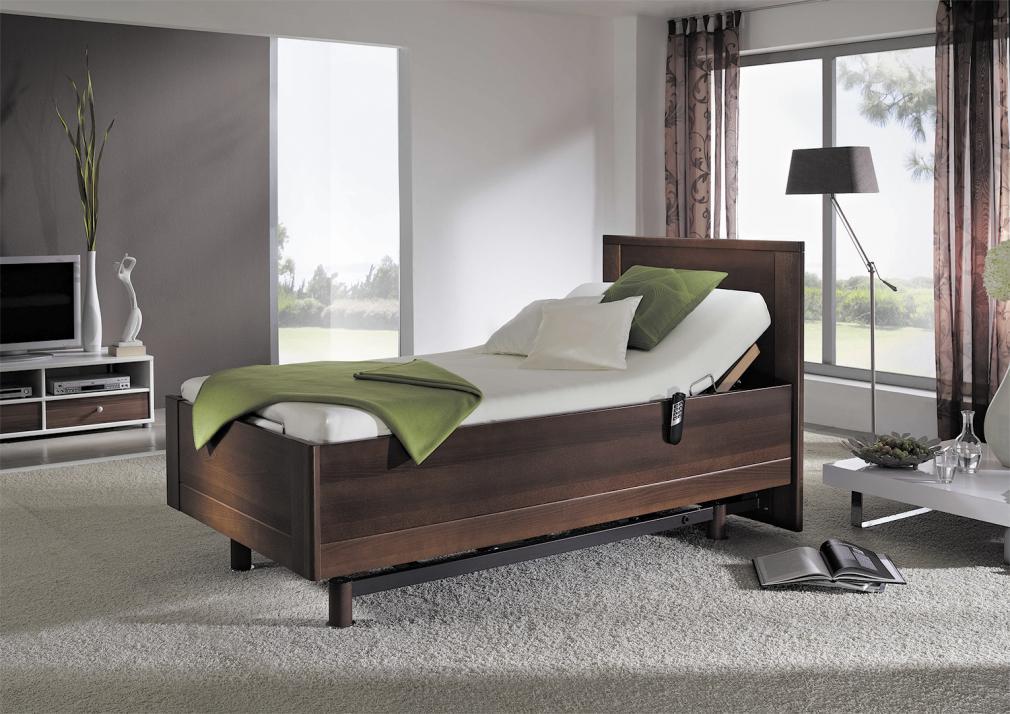 Erhältlich bei das Bett komplett: die Pflegebetten von Kirchner. Sie verfügen über alle Funktionen, sehen aber aus wie normale Betten