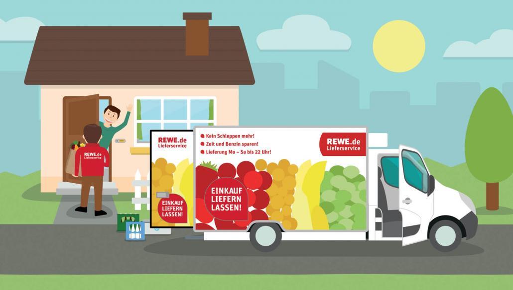 REWE Lieferservice bringt Lebensmittel an Kieler Haustüren
