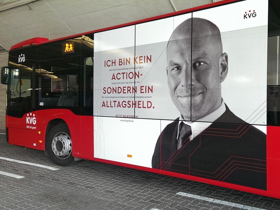 Die Kampagne für die KVG Kiel war der erste große Werbeauftrag der Unternehmerinnen