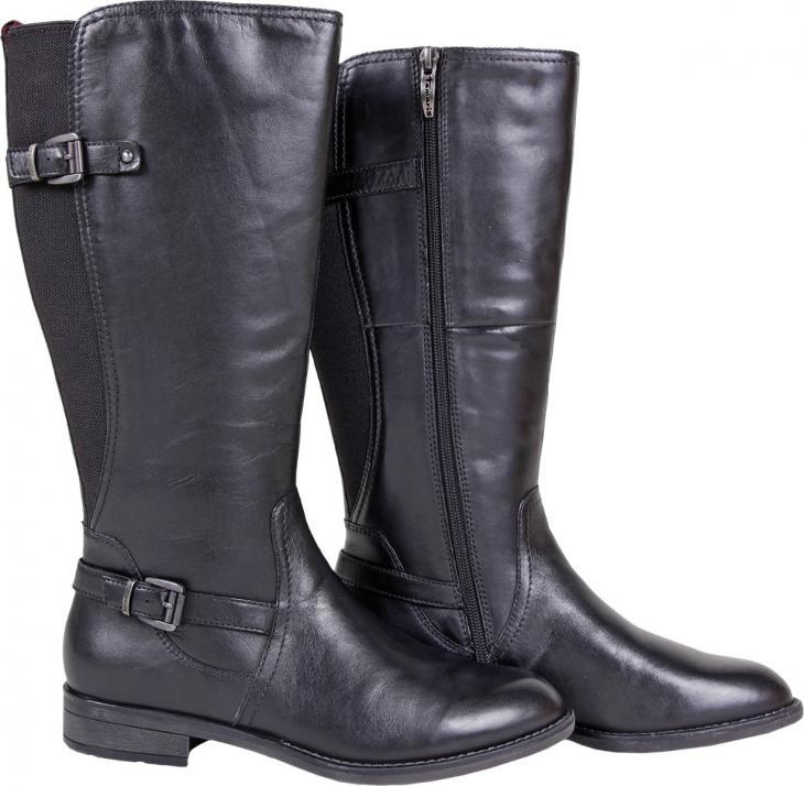 Der schwarze Stiefel von Tamaris rundet jedes Outfit ab. Für 90 statt 119,95 Euro