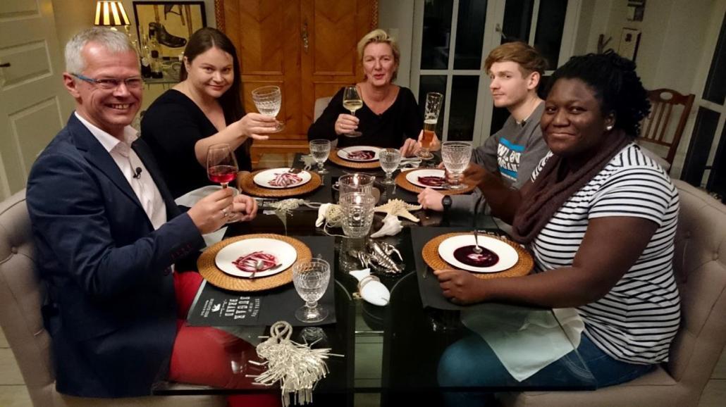 v.l.: Stephan, Eva, Martina, Marius, Sahada