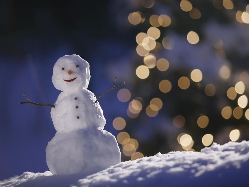 Ein Schneemann wie von Michelangelo