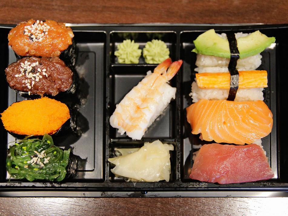 Köstliches Sushi zum Mitnehmen