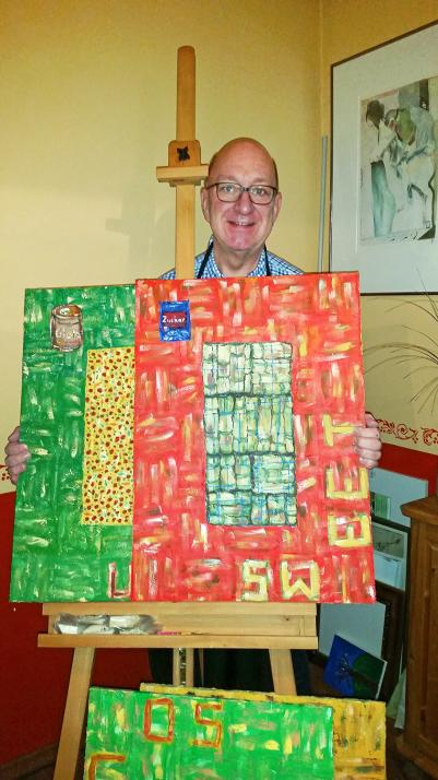 Markus Huber ist leidenschaftlicher Hobbymaler