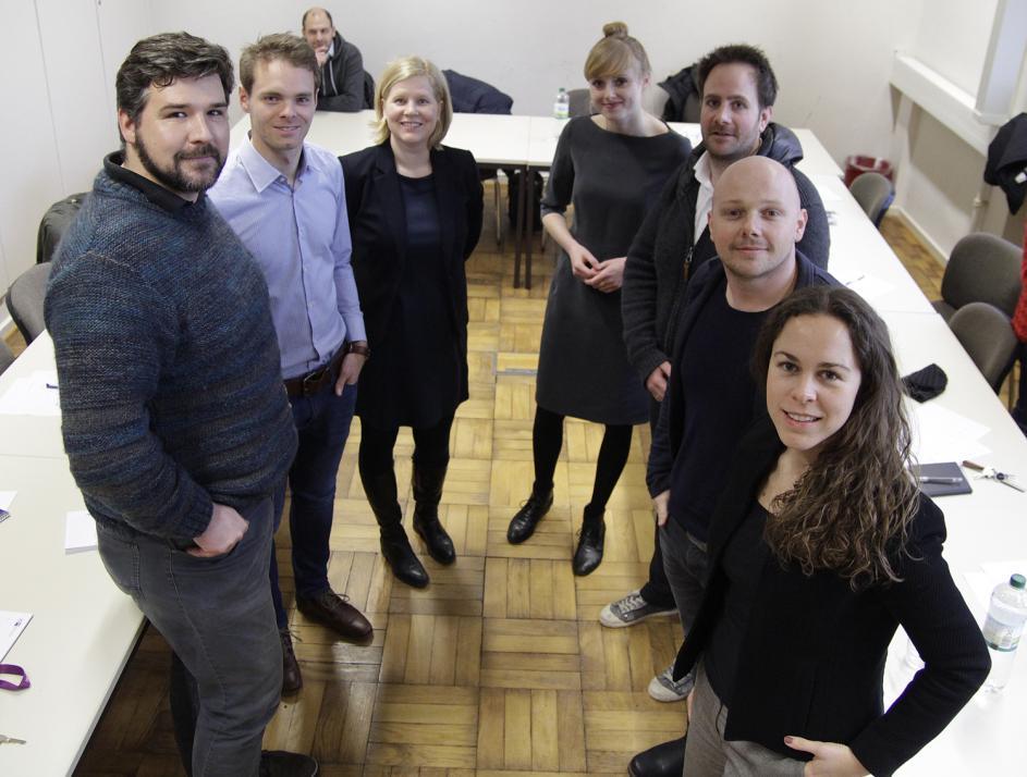 Daniel Gieseler, Fabian Gielen, Dr. Anke Rasmus, Laura Cordes, Sebastian Zuther, Malte Gertenbach und Sophie Dukat (v. li.)