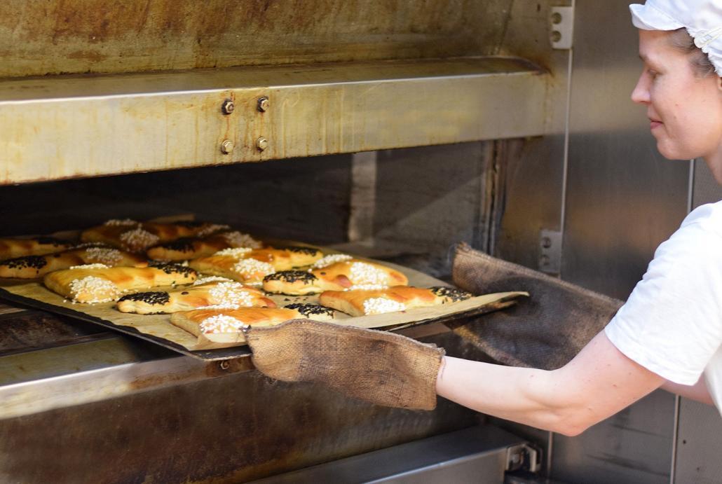 Hier kommt der Hase Osterix aus dem Ofen