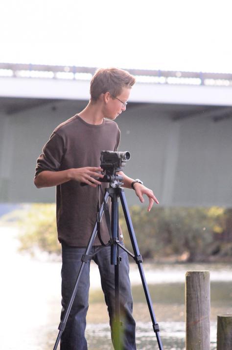 Moritz im Alter von 13 Jahren beim Filmen