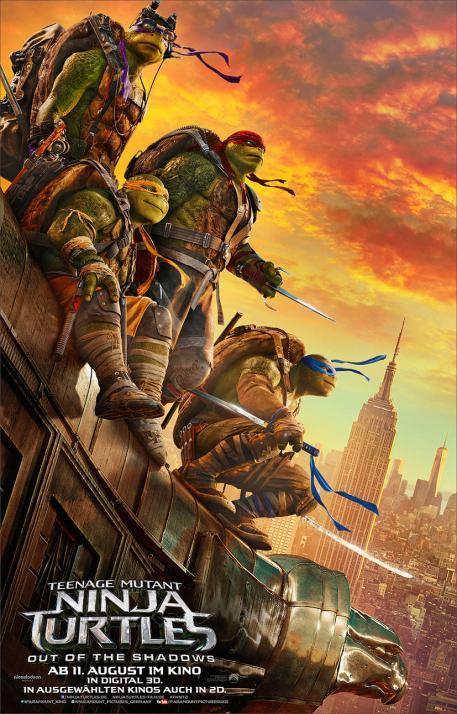 """""""Teenage Mutant Ninja Turtles: Out of the Dark"""" ist die Fortsetzung des 2014 erschienenen Realfilms"""