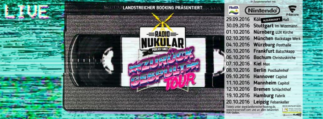 """Die """"Zurückgespuhlt""""-Tour von Radio Nukular macht in 14 deutschen Städten halt. Am 7. Oktober 2016 auch in Kiel"""