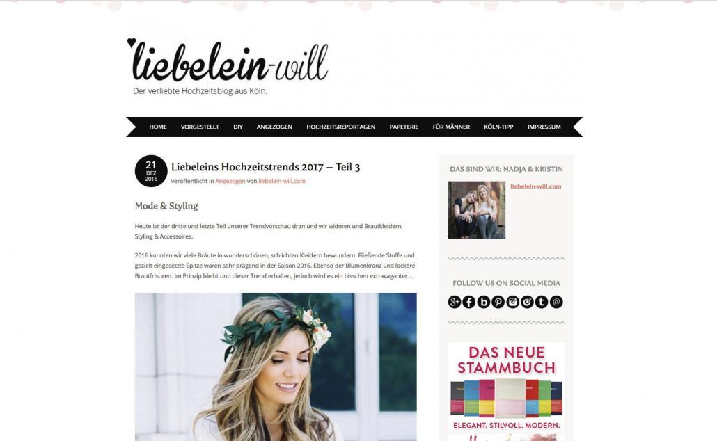 Liebelein will