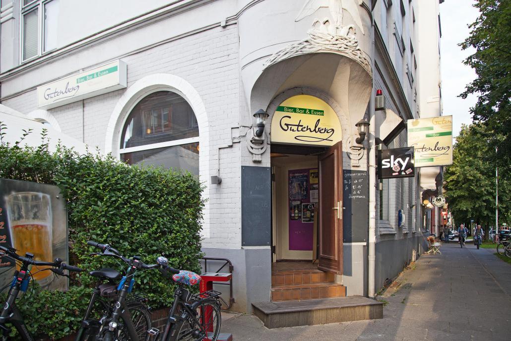 Das Gutenberg befindet sich in der belebten gleichnamigen Gutenbergstraße