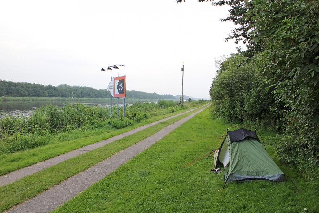 Camping am Nord-Ostsee-Kanal