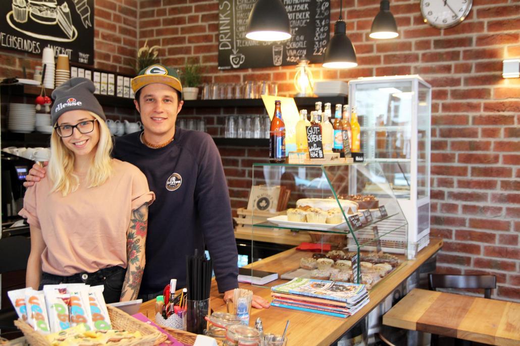 Lena und Vincent vom Café Blattgold