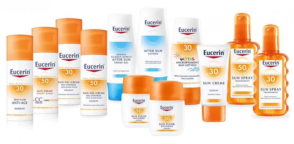 Eucerin bietet eine große Auswahl an Sonnenschutzprodukten