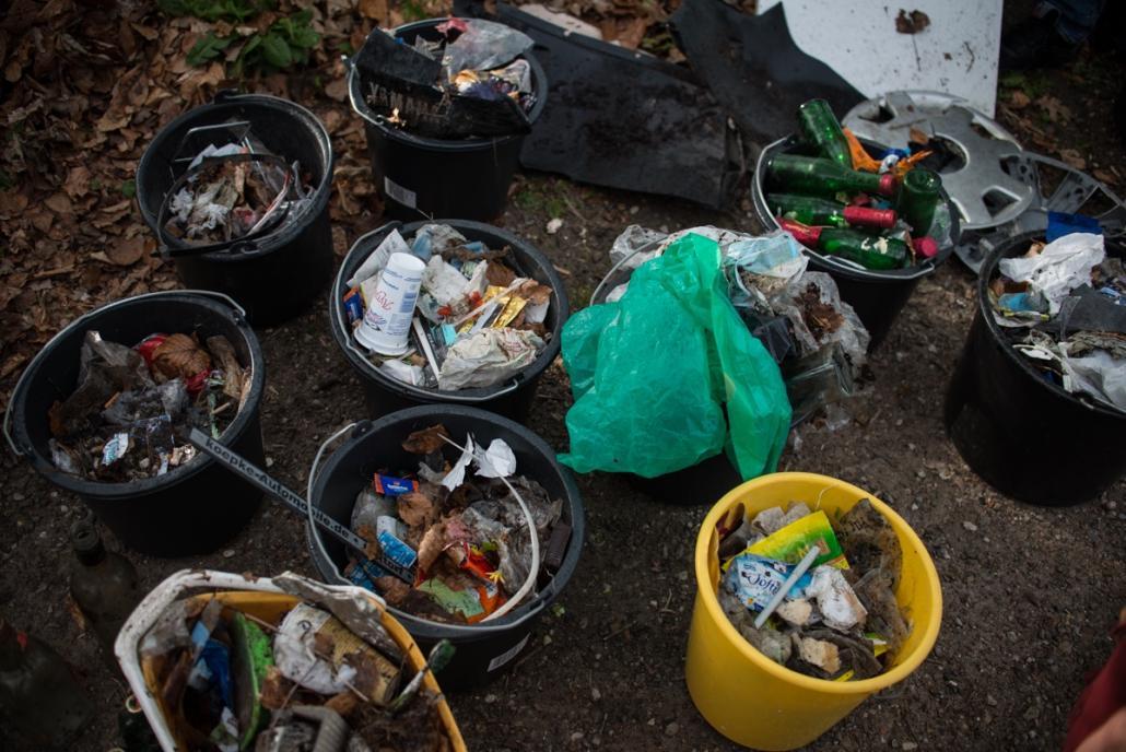 Müllsammeln für ein sauberes Kiel