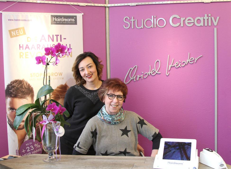 Karine Manukyan und Christel Heister (v. li.) leiten das Studio Creativ