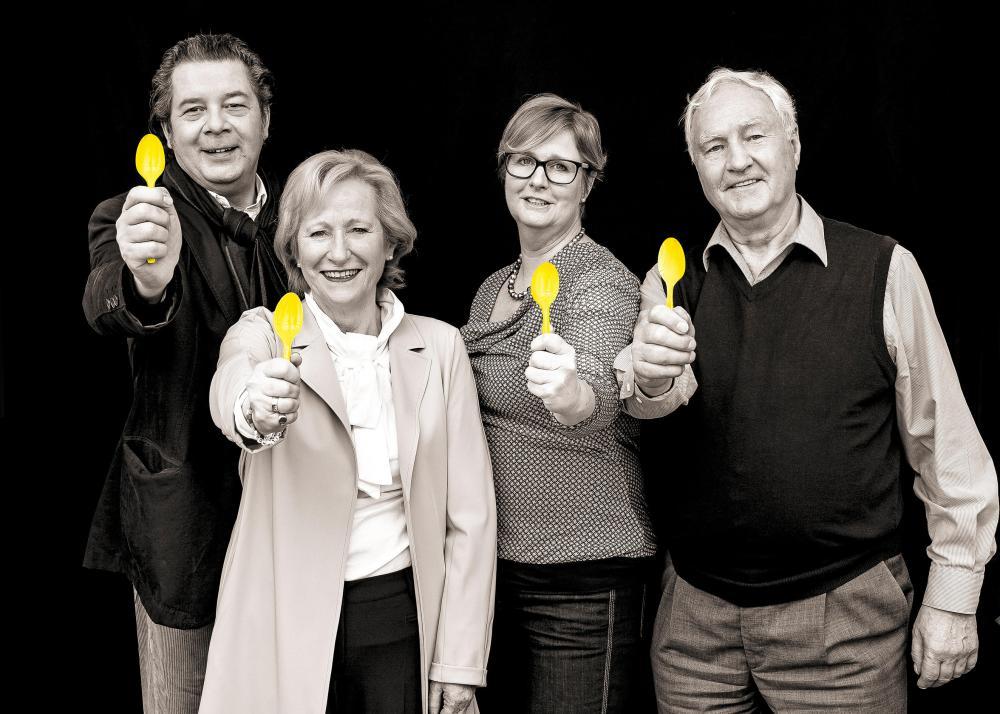 """Das Team von """"Mach Mittag"""": Daniel Karasek, Angelika Volquartz, Tatjana Moll und Peter Willer (v. li.)"""