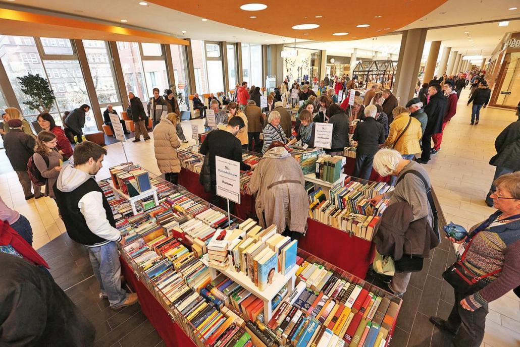 Wie hier bei der Leselust 2016 kann auf dem Bücherflohmarkt am 10. Juni stundenlang gestöbert werden