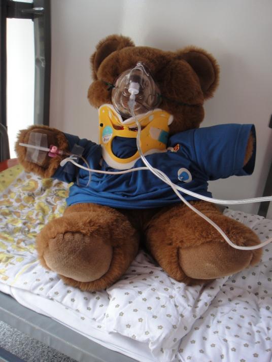Die Kinder überlegen sich eine Krankheit für ihr Plüschtier, die dann von den Teddy-Docs behandelt wird
