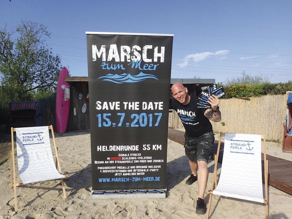 Oliver Zunk ist Initiator des Marsches zum Meer