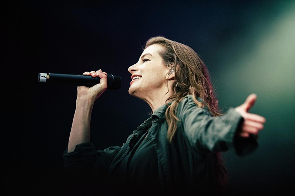 Zum Abschluss der KiWo 2017 trat Yvonne Catterfeld am Sonntag auf der NDR-Bühne auf