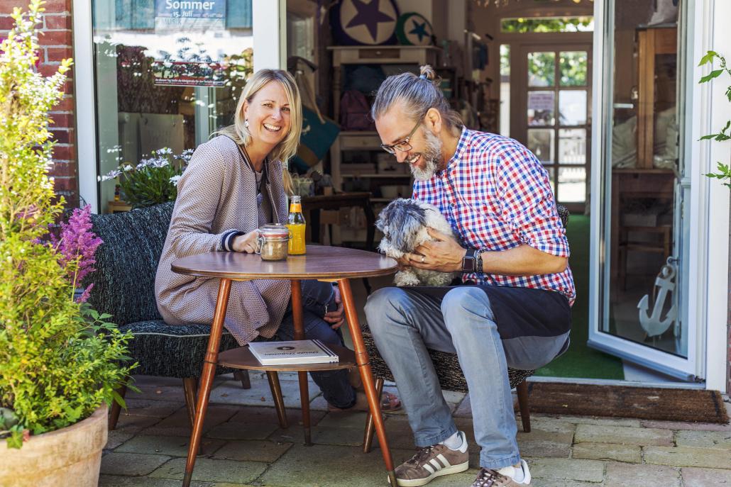 Mit dem Geschäft und Café erfüllten sich Susanne und Jörg Herzog einen Herzenswunsch