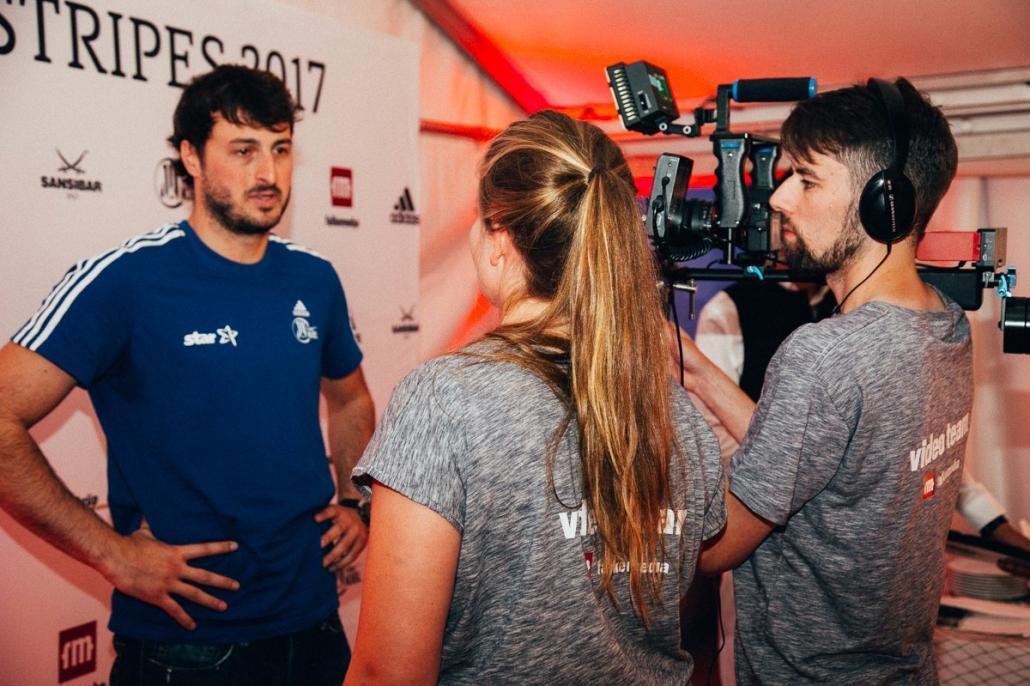 THW-Kapitän Domagoj Duvnjak wird vom falkemedia-Videoteam interviewed