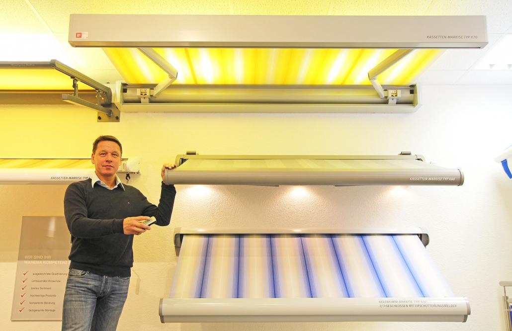 Gemeinsam mit seinem Team präsentiert Geschäftsführer Klaus-Peter Staal das große Angebot  an Markisen, Rollladen und Vordächern