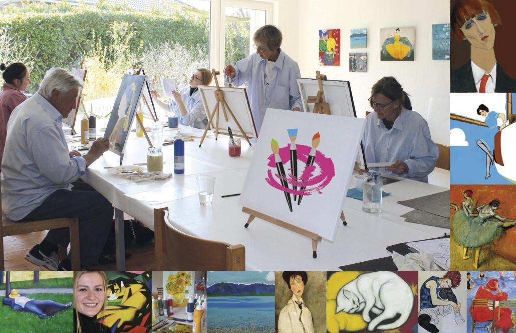 In der KunstStube entstehen Kunstwerke