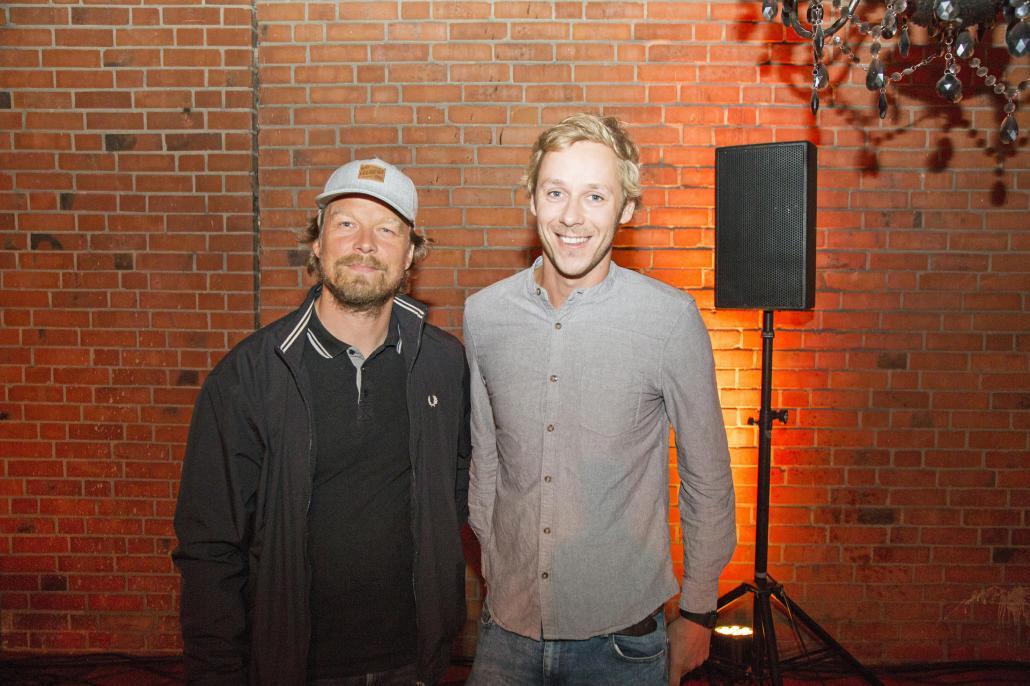 Regisseur Lars Jessen (li.) und Redakteur Bastian Karkossa