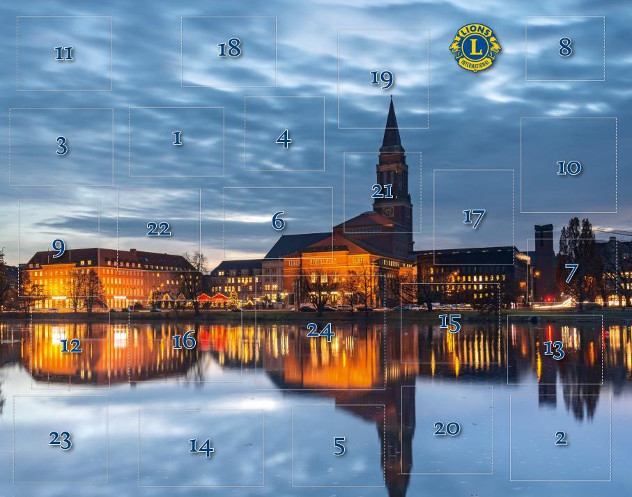 Auch in diesem Jahr gibt es wieder einen Adventskalender des Lions Club Kiel-Oben
