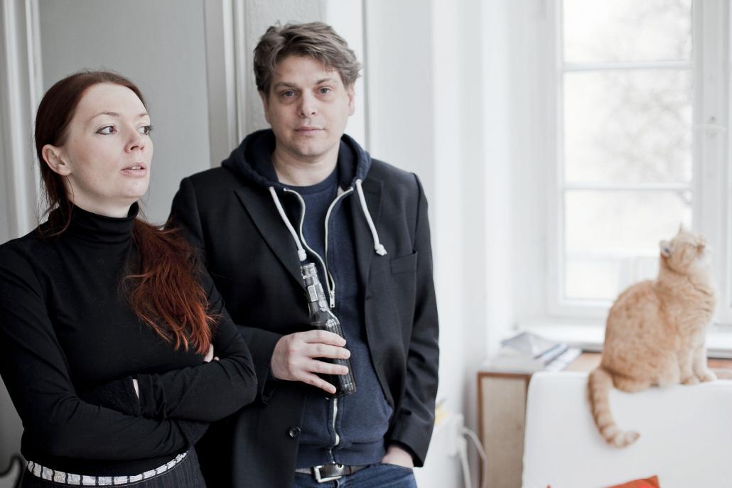 Zoë Beck (links) undJan Karsten