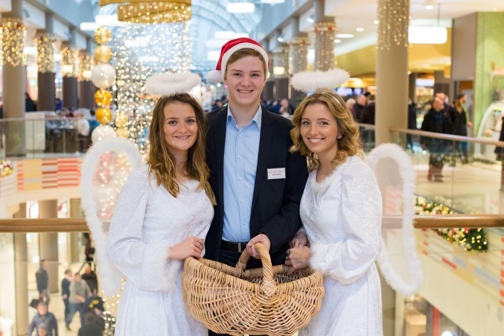 In der Adventszeit lassen sich sogar Weihnachtsengel im Sophienhof entdecken