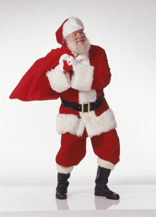 Der Weihnachtsmann bringt Freude und Geschenke