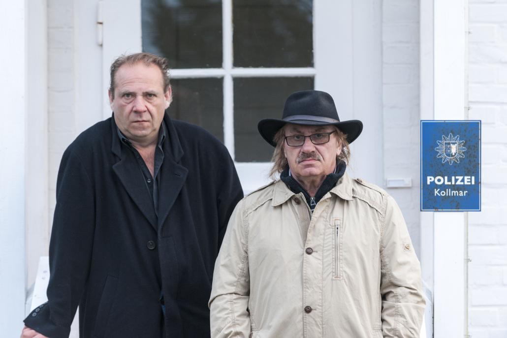 """Die beiden kantigen Deichbullen Hartmut Paulsen (links) und Klaus """"Kiez"""" Kante"""