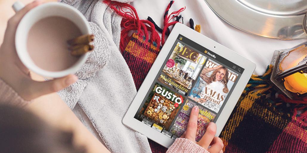 Zuhause können entspannt die Rezepte aus zahlreichen Magazinen aufgerufen werden