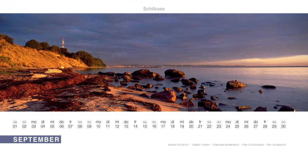 In dem Kalender von Fotograf Tom Körber finden sich zwölf beeindruckende Aufnahmen aus Kiel und Umgebung