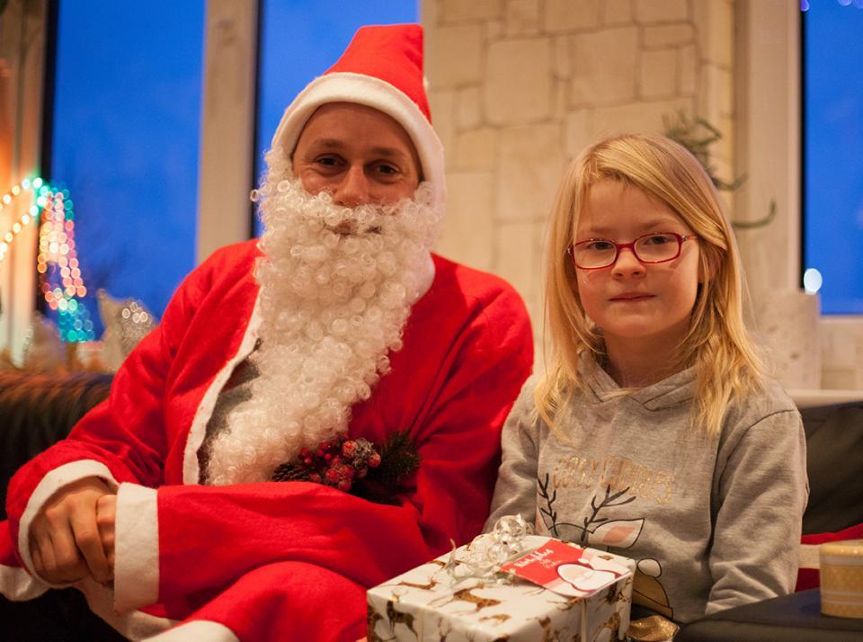 … oder macht ein schönes Erinnerungsfoto mit Santa
