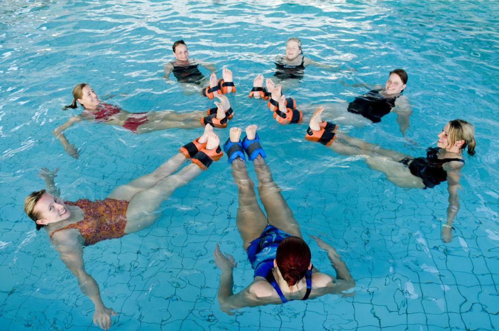 Fit durch Sport im Wasser