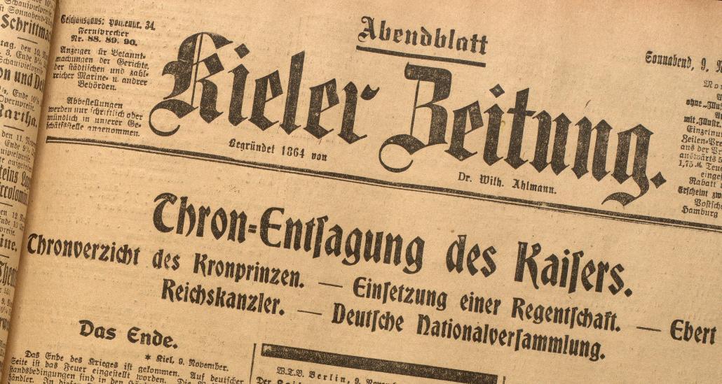 Spannende Schlagzeilen in der damaligen Kieler Zeitung