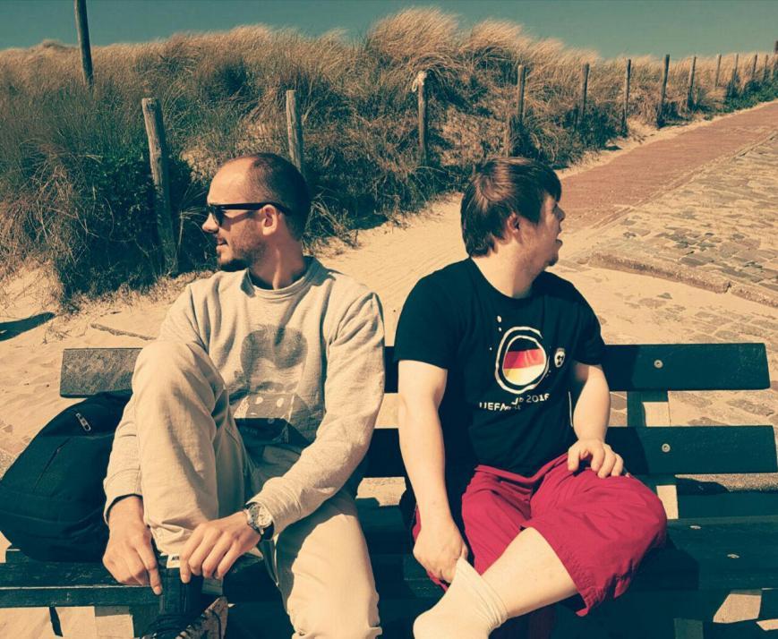 Auf zur anderen Seite der Welt: Manuel Zube (li.) und Julius Werner