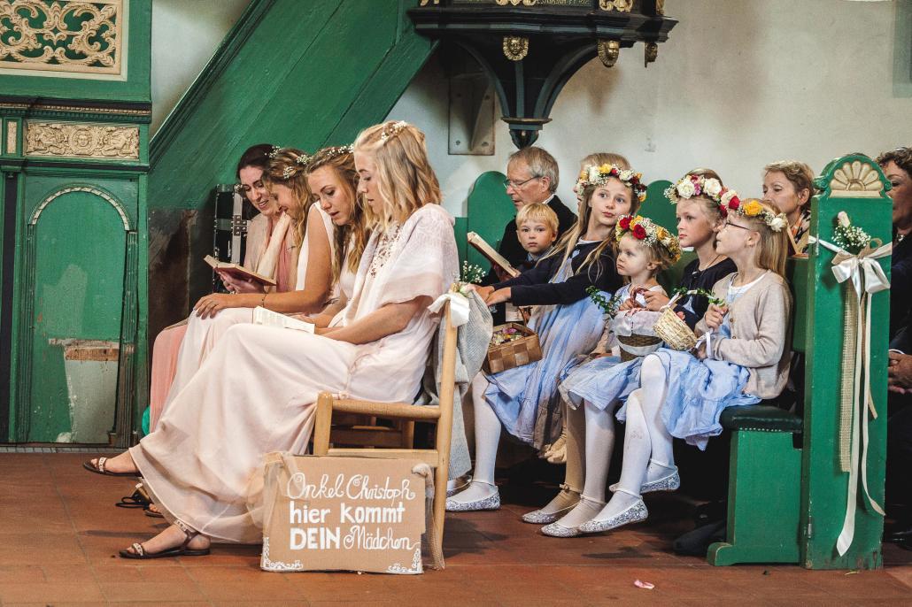 Die Hochzeit fand im engen Kreis der Familie statt