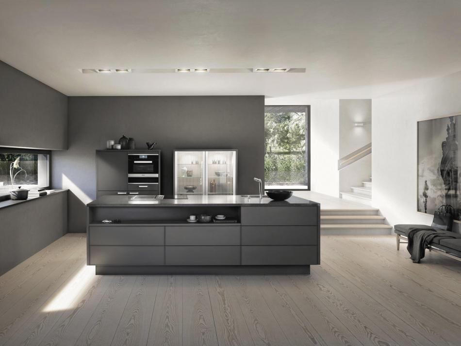 Beautiful Besonders In Großen Und Hellen Räumen Wirken Dunkle Küchen Sehr  Eindrucksvoll